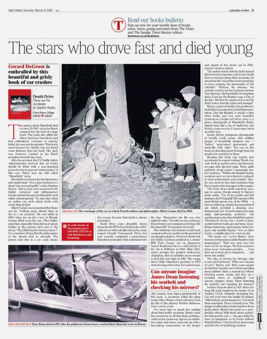 Death Drive reviewed in The Times, Saturday 12 March 2016