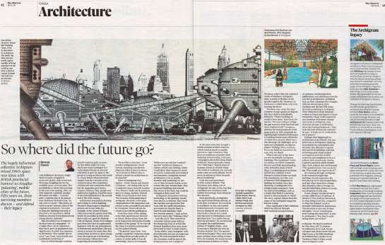Archigram – The Book featured in The Observer